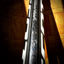 Top tube art on Geoff Kabush's custom Scott 29er Hardtail Olympic bike.