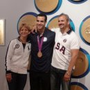 Danell Leyva with his parents
