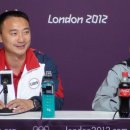 Press conference with Liang Chow and Gabby Douglas