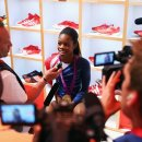 Olympic Champion Gabby Douglas talks to the Media