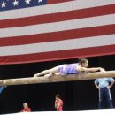 Aly Raisman training beam at 2010 Visa Championships