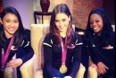 Gabby Douglas, McKayla Maroney, and Kyla Ross on LA Morning News