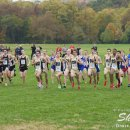 2012 Big East Cross-Country Championships: Notre Dame and Cincinnati Runners After the Start of the