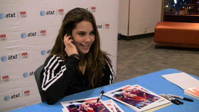 Maroney surprises a young fan with a phone call: Hi Katherine, this is McKayla!