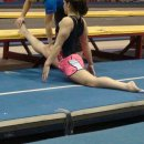 Ariana Guerra works on her oversplit