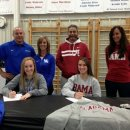 Cincinnati Gymnastics Signing Party   Marissa Beucler to Kentucky and Amanda Jetter to Alabama