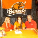 Megan Jimenez of Precision signs with Oregon State