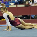 Oklahoma gymnast  Keeley Kmieciak at the Metroplex Challenge
