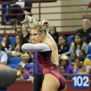 OU gymnast Erica Brewer at the 2013 Metroplex Challenge