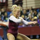 Oklahoma gymnast Brie Olson at the Metroplex Challenge