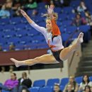 Oregon State gymnast at the Metroplex Challenge