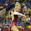 OU gymnast Haley Scaman at the 2013 Metroplex Challenge 