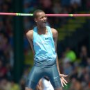 Mutaz Barshim high jumps 2.40m at Prefontaine Classic