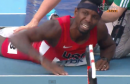 Bershawn Jackson Falls in 400m Hurdles Semi-Final