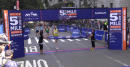 Men's 5th Avenue Mile Finish 2013 (Willis celebrates and blanket finish for second)