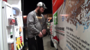 LJ filling up the Uhaul truck